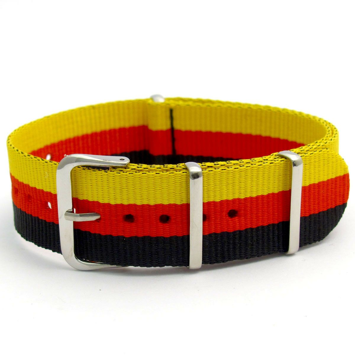 NATO Military Webbing Watch Strap National Flag Colours C048
