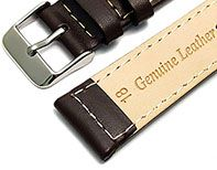Example watch strap size stamped on to back of strap
