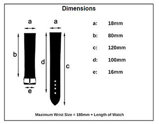 Watch Strap Size Diagram Example